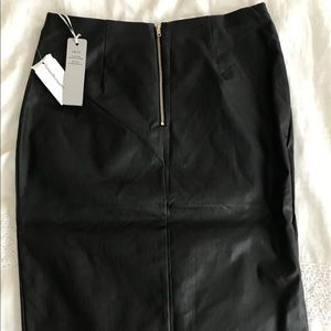 Leather midi skirt - never been worn!